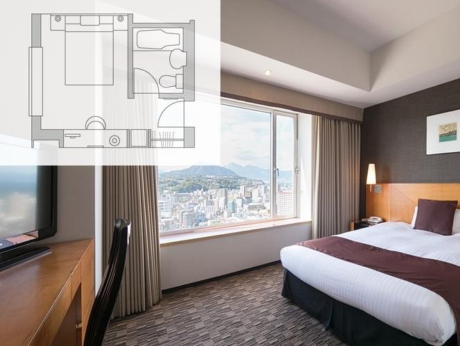 【客室・平面図】セミダブルルーム