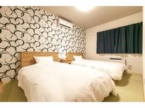 【寝室2】セミダブル ツインルーム