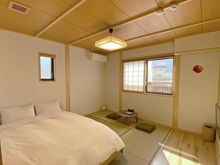 景色良好♪ 綺麗な和室にダブルベッド♪角部屋 (禁煙)