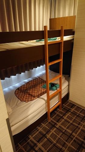 2段ベッドルーム(8平米) 禁煙室のみのお部屋タイプです。