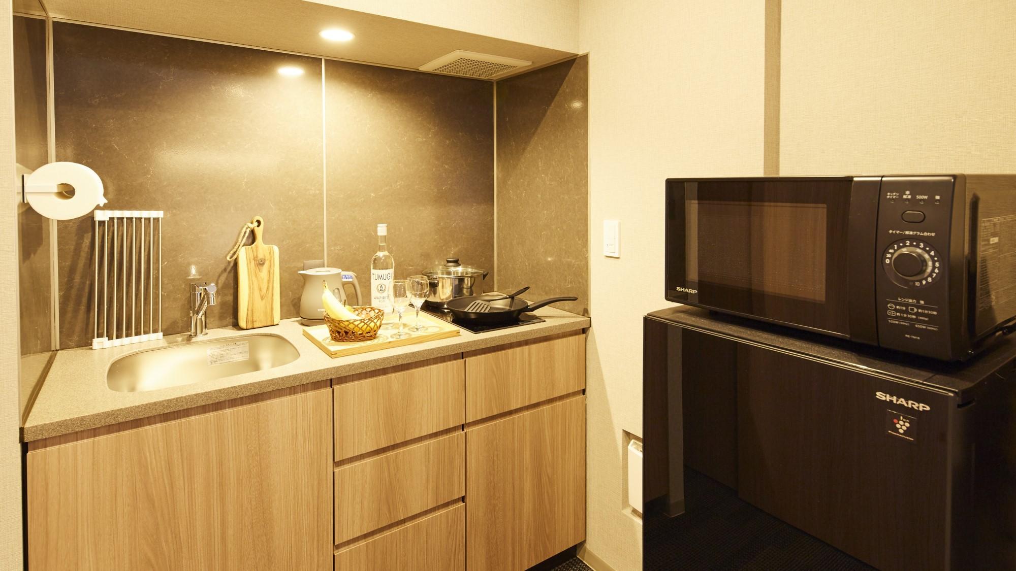 全室にキッチン・調理器具付!
