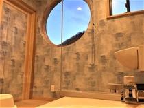 本館特別室内のお風呂からの景色