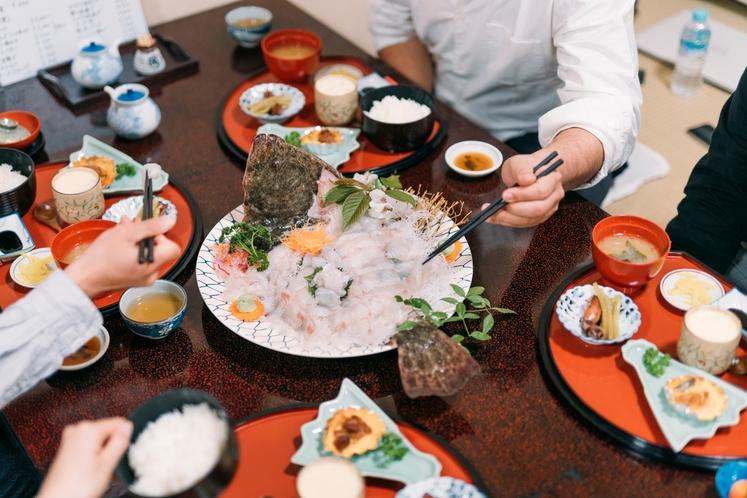 料理例(川正活魚プラン)