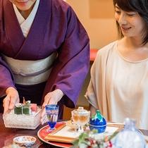 *【昭和の森 車屋(一例)】季節に合わせたお料理とお飲み物を、季節に合わせた盛り付けで