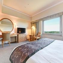 *【部屋(スタンダードダブル)】木のぬくもりを大切にした25平米のお部屋。