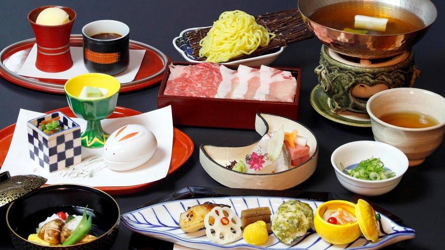*【和食会席:グレードアップコース(一例)】ご褒美旅行に嬉しい、贅沢な料理を会席スタイルで