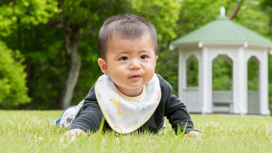 **【庭園】赤ちゃんとファーストステイ(イメージ)