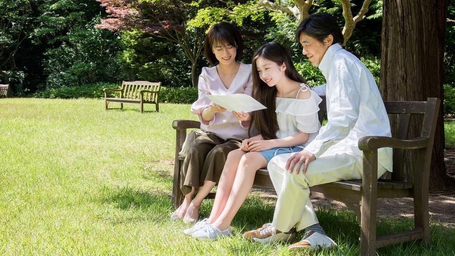 **【庭園(一例)】チェックアウト12時なので、朝食後に庭園もお散歩できます
