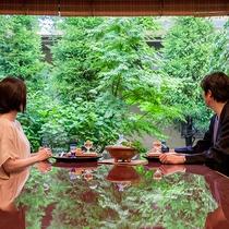 *【昭和の森 車屋(一例)】日本庭園を眺めながら、至福の会席料理を