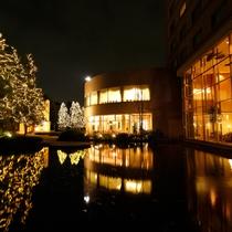 *【庭園(冬・一例)】イルミネーションを眺めてロマンチックな夜を