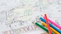 **【ぬりえ用ガーデンマップ(一例)】昭和館オリジナルのぬりえをお子様にプレゼント