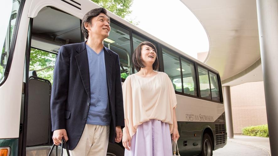 **【シャトルバス(一例)】昭島駅と当ホテル間は、無料のシャトルバスが運行しています