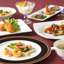 *【中国料理:お手ごろコース(一例)】美味しさたっぷり、満足いっぱいの中国料理をリーズナブルに