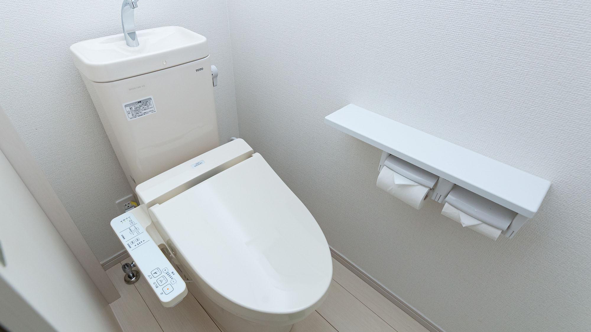 全棟共通・洗浄機能付きトイレ