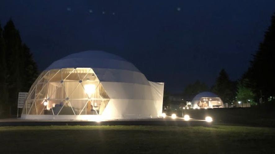 【ETTORE】エグゼクティブスイート・シングルドーム8m 家具デザイナーの名を冠したドームテント