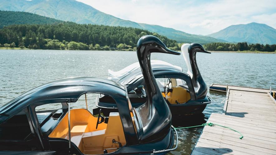 雲仙寺湖のボートもお楽しみいただけます