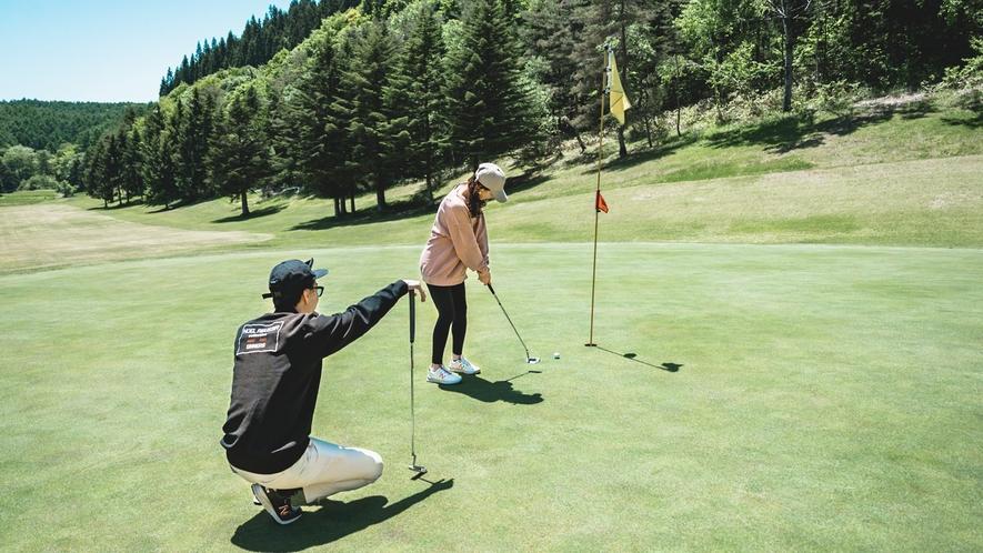 GLAMROOKゴルフコースでゴルフ体験