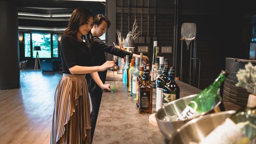 信州のお酒をはじめ、オリジナルカクテルをお楽しみいただけます(オールインクルーシブ)