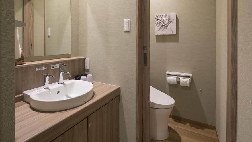 <客室>エグゼグティブツインお手洗い ウォシュレット機能付きトイレを設置。