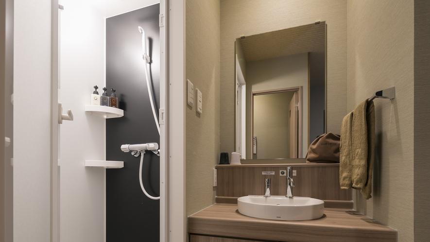 <客室 シャワーブース>ダブル◇禁煙【山側】シャワーブース(浴槽なし)のみ設置