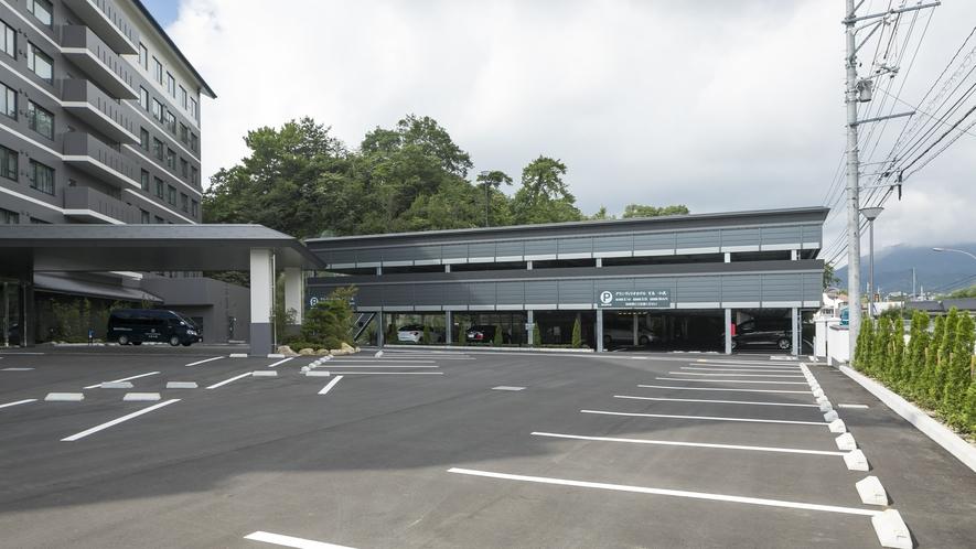 <無料駐車場>普通車171台駐車可能(先着順 平面53台・自走式118台)/観光バス4台(要予約制)