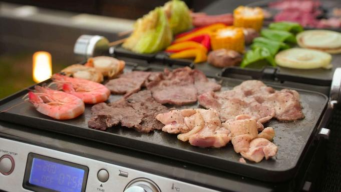 【基本BBQセット<人数分>付】スタッフ太鼓判!お肉x海鮮x野菜のBBQセット(夕食のみ)