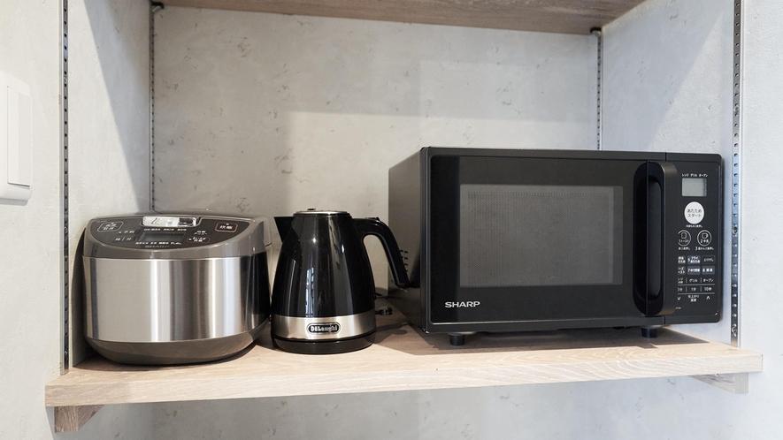 101~104・炊飯器、ケトル、電子レンジ