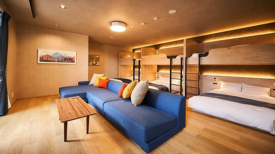 9名定員部屋・リビング&ベッドルーム