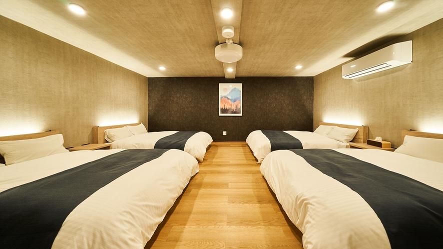 8名定員部屋・ベッドルーム