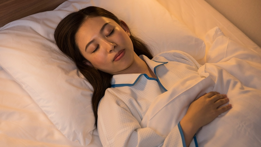 【客室】こだわりの快眠寝具でしっかりとお休みください