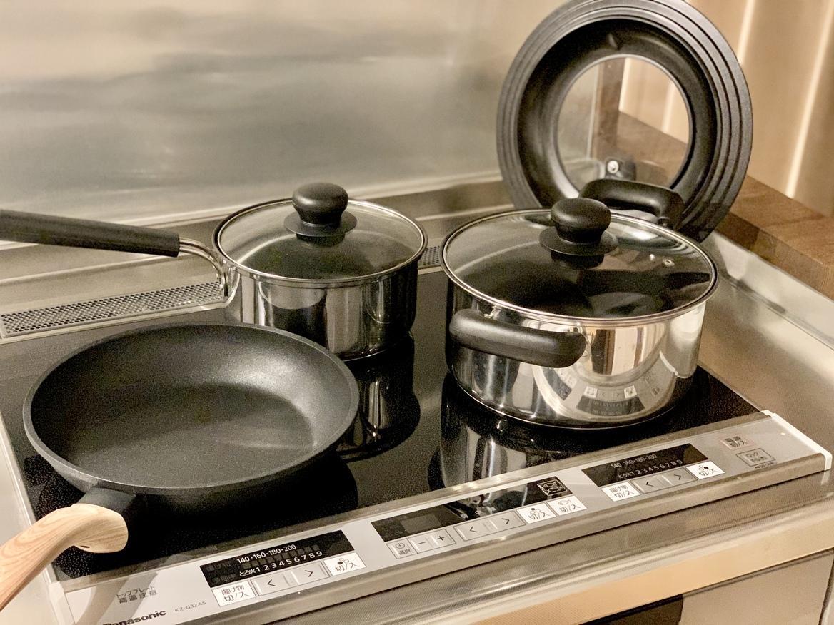 フライパン・鍋 ご自由にお使いくださいませ