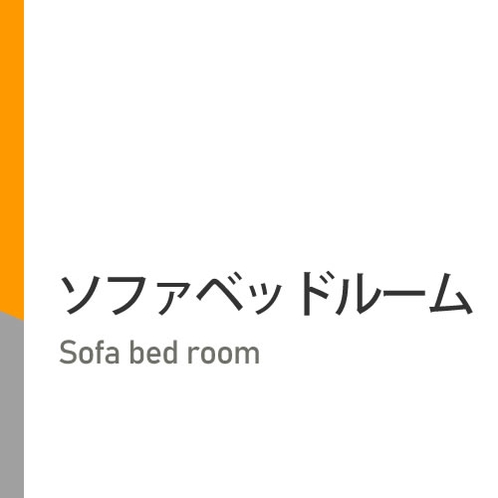 ダブルベッド+折り畳み可能なソファベッド♪ (※定員2名)
