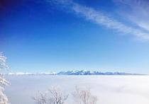スキー場頂上からの眺め