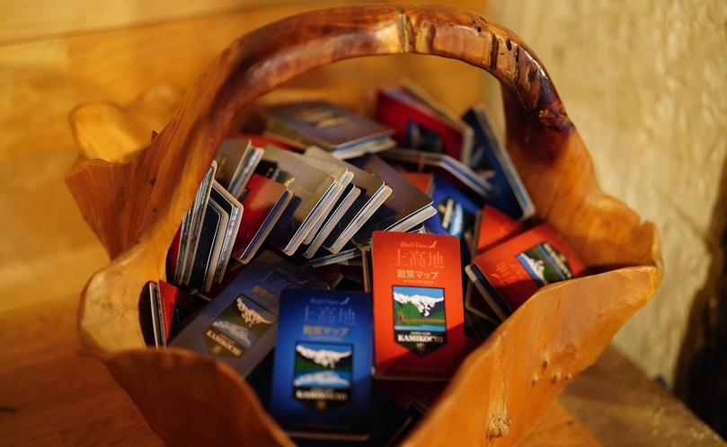 玄関先には、可愛いポケットMAPもご用意しています。