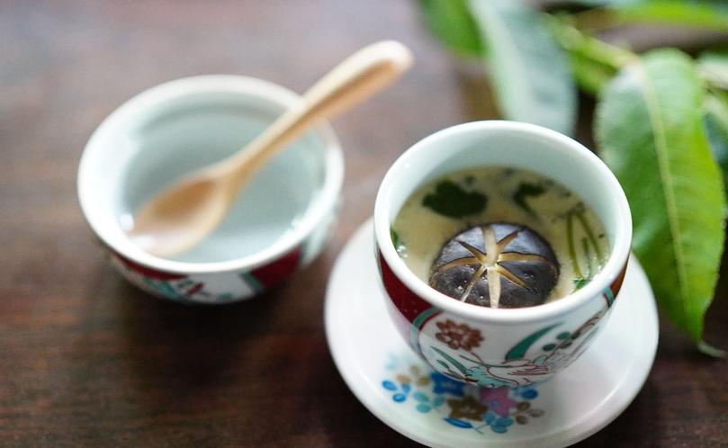 【信州山ごはん】茶碗蒸し。登山者プランには付いておりません。