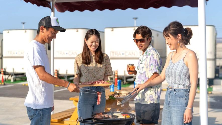 宮古島でキャンプ気分!BBQも盛り上がる♪