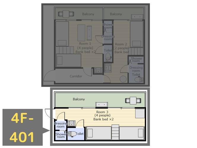 4F-401(4人部屋)