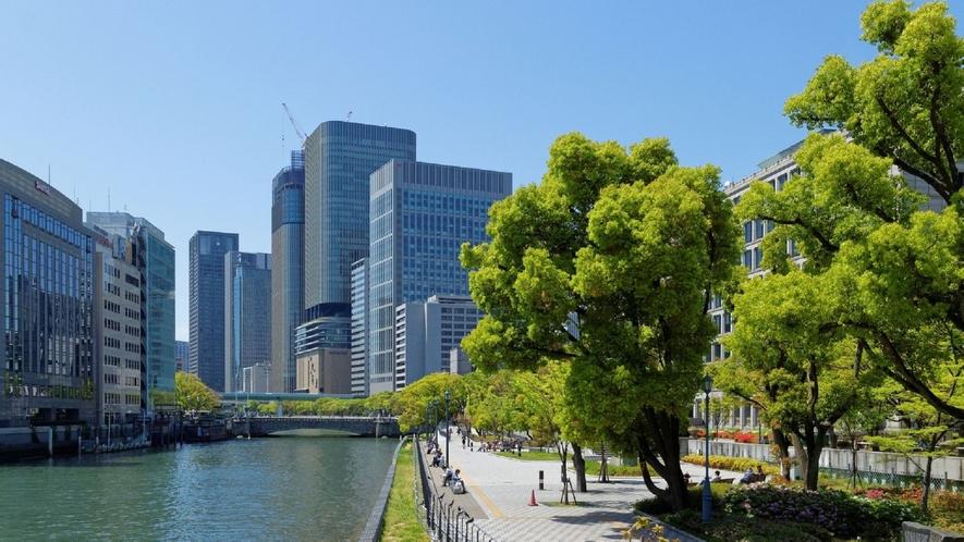 大阪中ノ島は歩いて10分