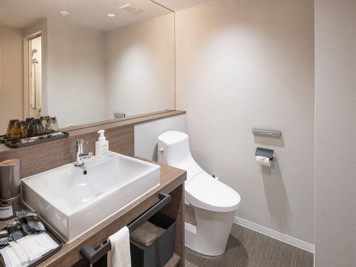 【ハリウッドツインのみ洗面トイレ併設】全室ウォシュレット付きトイレ