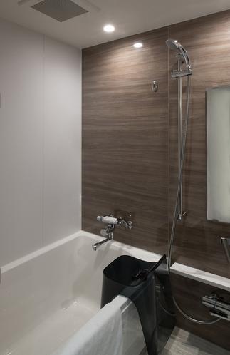 【バスルーム(デラックスクイーンのみ)】ゆったりとしたバスルームです^^