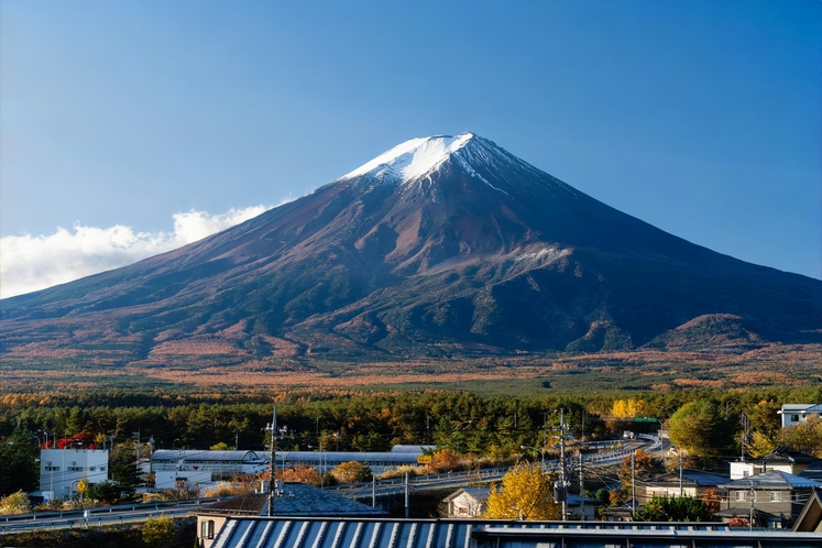 部屋から見れる富士山(晴天時)