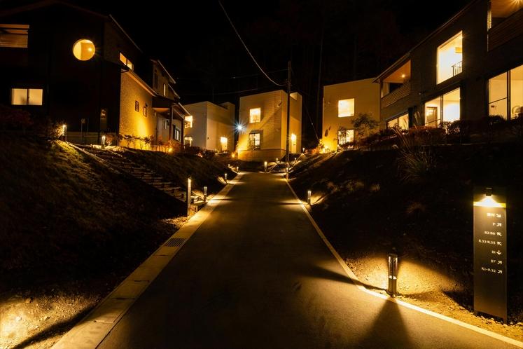 夜の富士グランヴィラ