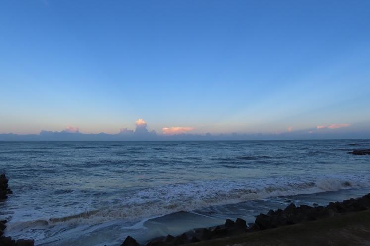 夕方の景色