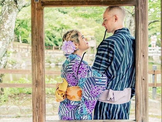 【女子旅】トリプルルーム/京都浴衣de散歩◆お部屋で着付け&ヘアセット→ホテルで返却◆11時イン◆◆