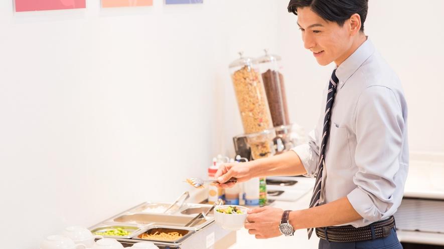 【無料朝食サービス】お好きなメニューをお召し上がりください
