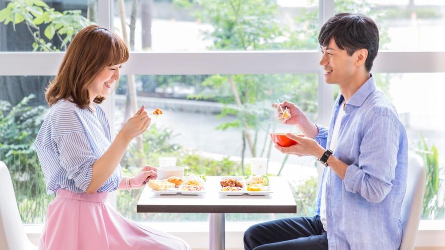 【無料朝食サービス】利用イメージ