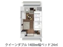【クイーンダブル】24㎡ 1600mm幅フランスベッド ゆったりとお休みください