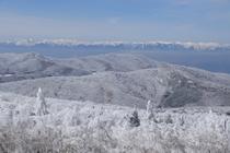 峰の原高原から見える冬の風景