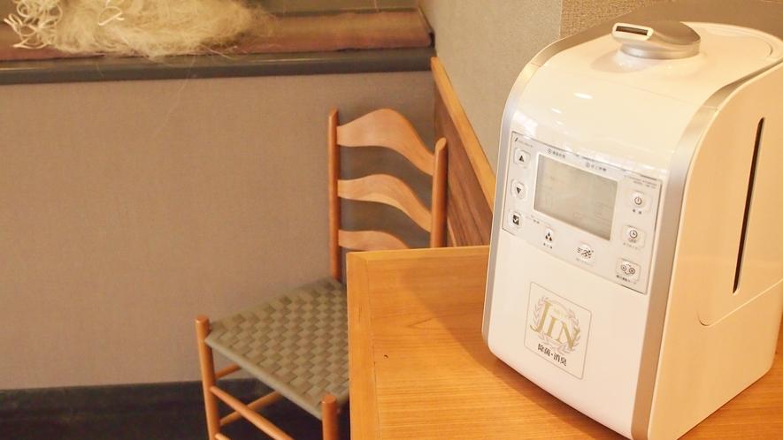 次亜塩素酸噴霧器によるロビーの空間除菌