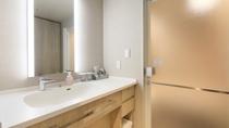 ステーションビューツインルームの洗面台